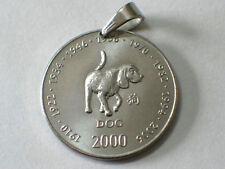 Münz-Anhänger 10 Schillings Ø 25 mm Chinesiches Tierkreiszeichen Hund