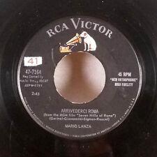 """Mario Lanza Arrivederci Roma / Younger Than Springtime 7"""" 45 RCA GD+"""