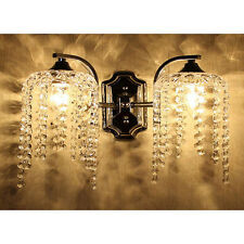 Modern Crystal Bedroom Wall Light 2 head Fixture Sconce Chandelier Wall lamps