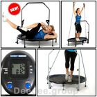 Mini Trampoline Fitness Exercise Cardio Training Gym Handle Bar DVD Workout Home