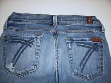 Seven 7 For All Mankind Cropped Capri Jeans sz 26 DOJO Distressed