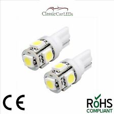 2X 24 VOLT GLB505 507 T10 LED White Wedge Bulbs Classic Gauge Sidelight Capless