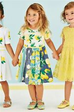 BNWT NEXT Beautiful Girls Mixed Lemon Dress 3-4 yrs