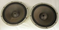 "2x Vintage Coral 12L-25B 12"" Bass Drivers - 60W 6ohm - Made in Japan (Pair)"
