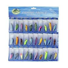 HOT! Lot 30 pcs Kinds of Fishing Lures Crankbaits Hooks Minnow Baits Tackle