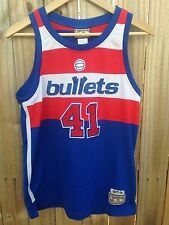 Vtg Washington BULLETS Basketball Jersey Youth Sz M NBA Hardwood Classics UNSELD