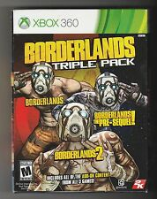 Borderlands Triple Pack Microsoft Xbox 360 Game ~ 1 2 The Pre-Sequel ~ Complete!