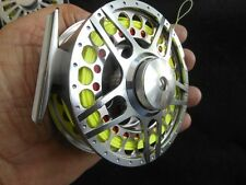 CUSTOM 7/8 WT 5 BAR SILVER ANODIZED CNC 6061-T6 FLY REEL W/ WF-7-F LINE W/ LOOP