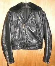 VTG 1969 Ladies LANGLITZ Cowhide COLUMBIA Leather Motorcycle JACKET *NICE*
