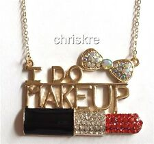 Gold Plated Necklace I Do Makeup Artist Mary Kay Cosmetology Graduation Gift USA