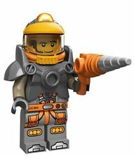 NEW Lego SPACE MINER Guy #6 Minifigure w/ Helmet + Drill Gun~Series 12~SEALED!