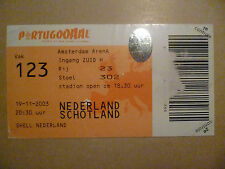 Original Ticket 2003 Netherlands v. Schotland - Amsterdam Arena, 19 November