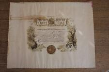 Ironwood Michigan Elks Lodge Number 1278 Incorporation Certificate Poster 1912