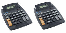 2X Big Button Desktop Calculator 8 Digit Large School Home Office Battery Solar