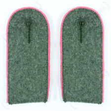 WW2 German Army Field Grey Pink piped Panzer Enlisted Man Shoulder boards