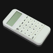 Fashion 10 Digits Display Pocket Electronic Calculating Calculator White Useful