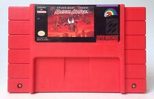 Super Nintendo SNES Spider-Man Venom Maximum Carnage Red Video Game Cartridge