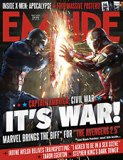 CAPITAN AMERICA CIVIL WAR EMPIRE MAGAZINE MANIFESTO MARVEL IRON MAN TONY STARK