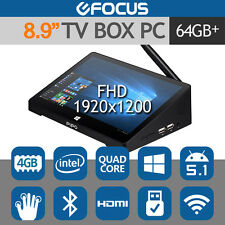 "PIPO X9S 8.9"" FHD TV BOX Mini PC Tablet Windows 10 Intel Quad Core 4GB/64GB HDMI"
