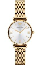 BRAND NEW EMPORIO ARMANI SILVER GOLD STAINLESS STEEL LADIES WATCH AR1877