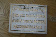 r1207     WW1 MARBLE PLAQUE   19 x 14 x 1 cm thick   interesting item