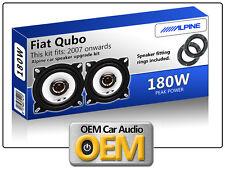 FIAT QUBO PORTA Altoparlanti Alpine Car Speaker Kit con Adattatore BACCELLI 180w
