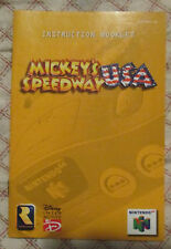 Nintendo 64 N64 - Mickey's Speedway USA (Manual only)