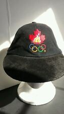Canadian Olympic -Atlanta 1996 Baseball Adj. Strapback Black Hat Suede Bill Hat