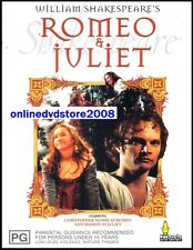 William Shakespeare's ROMEO & JULIET (1976) Classic LOVE Story DVD (NEW SEALED)