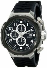 New Men's Invicta 17169 I-Force Chronograph Black Textured Dial Black Poly Watch