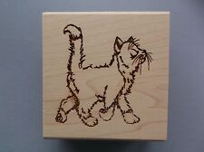 CREATIVE IMAGES RUBBER STAMPS CISTAMPS MISS PRISS CAT NEW wood STAMP