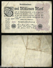 "RARE VINTAGE WW1 ""GERMANY"" BANK NOTE 1923 ""2 MILLIONEN MARK"" P# 104a"