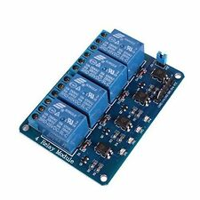 USA ! 1 PC 5 VDC 4-CHANNEL RELAY MODULE , ARDUINO COMPATIBLE TTL INPUT  NICE !!