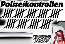 1x Blitzer Strichliste Blitzer Testwagen Aufkleber Auto Shocke Polizeikontrollen