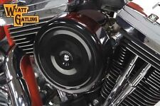 "Wyatt Gatling 7"" Round Air Cleaner With Black Cover, KIT,for Harley Davidson mot"