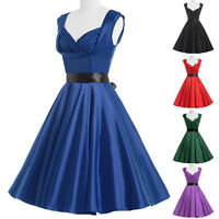 Vintage Retro 50s Style Full Circle Swing Flared Party Dress Pinup