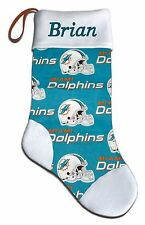 Personalized NFL Miami Dolphins Football Christmas Stocking Embroidered