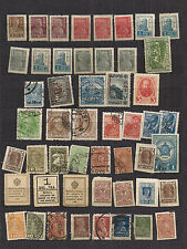 Collection of early Russia stamps  displayed on stock book page