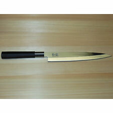 "New Shun/Kai Wasabi 8 1/4"" Yanagiba Knife 6721Y Black Sushi Sashimi Slicing Chef"