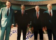 GEORGE BUSH   SIGNED JSA SPENCE JIMMY CARTER  7X10 PHOTO