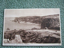 """Postcard. Babbacombe Downs from Petitor, Torquay.""""Solograph"""" series.Photogravure"""