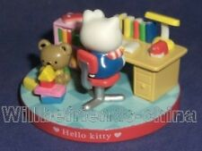 Hello Kitty Cat Sweet Casual Study Time Play Scene Table Decoration Ornaments