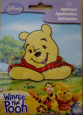 NEW 1 pc WINNIE THE POOH Pooh Bear Sitting Iron On Embroidered Applique DISNEY