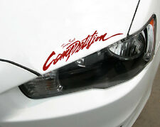 "Competition Car Headlight Taillight Eyebrow Decal Sticker Vinyl 13.5"" Body Red"