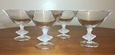 Sasaki Crystal Wings Compote Set of 4 - Frosted Birds - Etuso Yamagishi