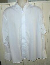 """Fred Theak evening dress shirt formal double cuffs wing collar 16.5"""" FREE POST"""