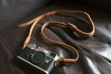 Genuine Real Leather Camera Shoulder Neck Strap for EVIL Film Camera Light Brown