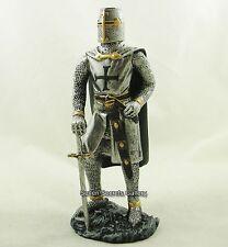 "Crusader Knight Medieval figura 7"" Alto | Negro Cruz Disfraz Estatua Estatuilla"