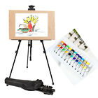 Art Zinc Alloy Folding Easel with 12 Tubes Oil Colours Painting Set