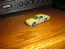 Vintage Hot Wheels 1/64 Datsun 200 SX Yellow with gold wheels